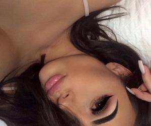 eyebrows, fashion, and makeup image