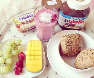 nutella, food, and breakfast image