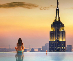background, empire state, and new york city image