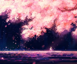anime, sakura, and wallpaper image