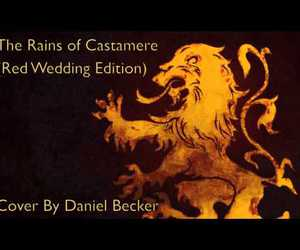 red wedding, game of thrones, and the rains of castamere image