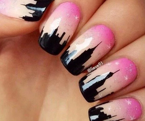 city, nails, and neverland image