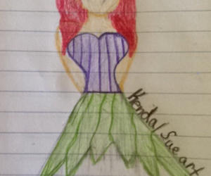 ariel, drawing, and disney outfit collection image