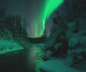 nature, aurora, and landscape image
