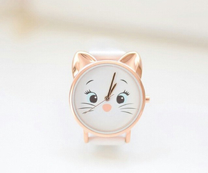 fashion, cat, and watch image