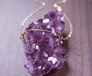 purple, fashion, and necklace image