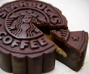 starbucks, cake, and chocolate image