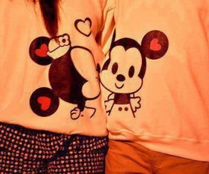 love, couple, and mickey image