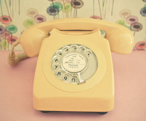 telephone, vintage, and yellow image