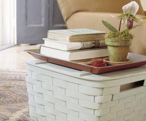 books, decoration, and interior decoration image