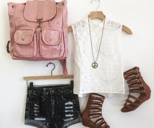 backpack, outfit, and fashion image
