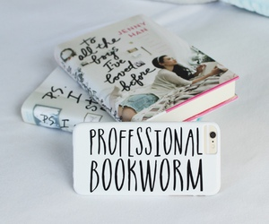 book, iphone, and bookworm image