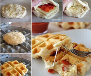 food, waffles, and diy image