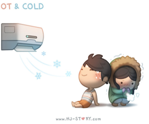 love, Hot, and cold image
