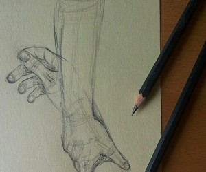 arm, artist, and draw image