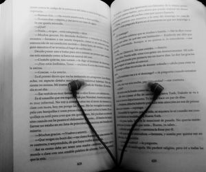 black and white, books, and music image