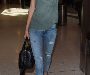 airport, black, and jean image