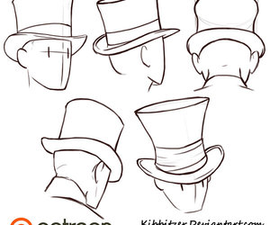 hat, sketch, and head image
