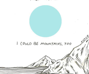 mountains, blue, and grunge image