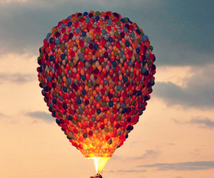 grunge, balloons, and clouds image