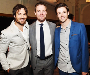 arrow, ian somerhalder, and stephen amell image