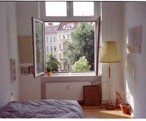 room, window, and bed image