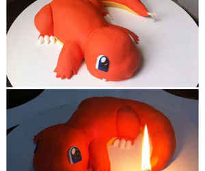 pokemon, cake, and charmander image