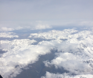 clouds, Flying, and high image