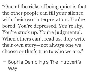 introvert, quote, and women image