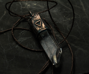 copper, pendant, and crystal image