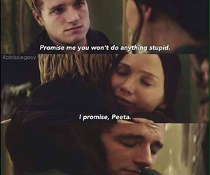peeta, katniss, and love image