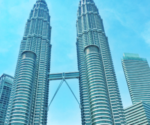 architecture, blue, and petronas image