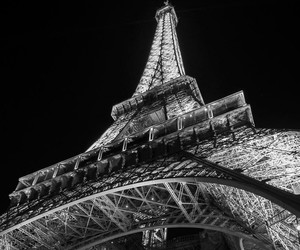 paris, black and white, and wallpaper image