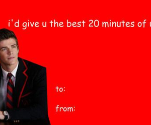 glee, valentine's day cards, and grant gustin image