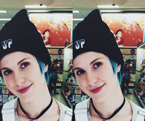 girl, hayley williams, and light blue image