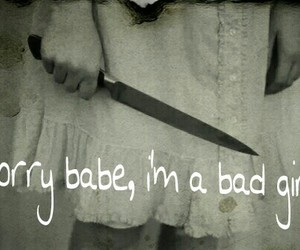 babe, knife, and sorry image