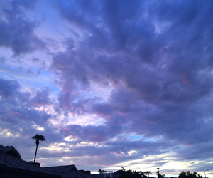 blue, clouds, and purple image
