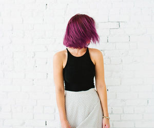 black and white and pink hair image