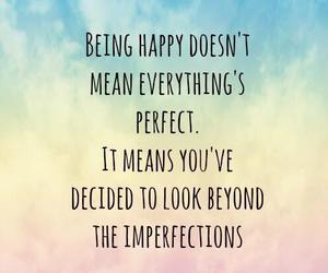 quotes, happy, and perfect image