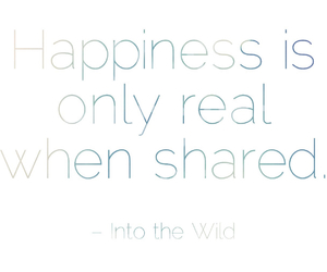 happiness, happy, and into the wild image