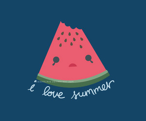 summer, cute, and watermelon image