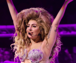 flowers and Lady gaga image