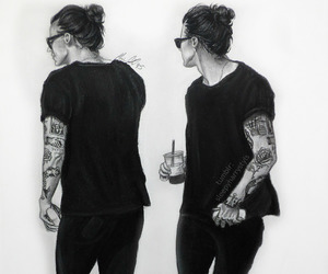 drawings, liam payne, and niall horan image