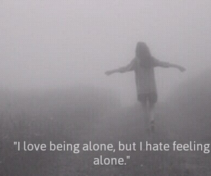 alone, black and white, and grunge image
