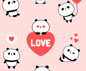 adorable, balloons, and panda image