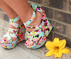 fashion, floral, and multicolor image
