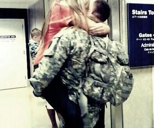 army, hug, and military image