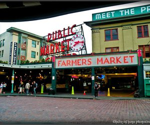 buildings, market, and photography image