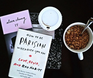 book, breakfast, and chic image