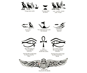 egypt, egyptian, and symbols image